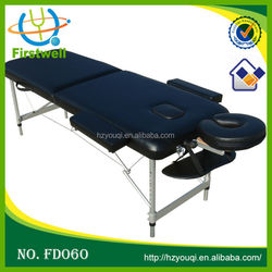 Cheap Aluminum Massage Table Free Carrying Bag PU cover Material