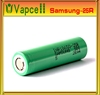 Authentic 25r 3.7v blue/green samsung inr18650-25r battery 18650 35 amp battery samsung 25r 18650 akku imr 18650 2500mah batter