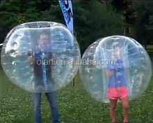 Clear PVC human size bumper ball 1.7m, body zorb, human bubble football