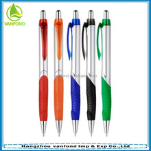 Cheap custom logo China import pen with rubber holder for hotel promotion