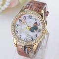 Alibaba china de encargo del diamante relojes de mano para la muchacha