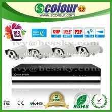 Bessky 4CH CCTV Camera Kit, nvr kits Camera System camera sport full hd 60fps(BE-6004SLIPWE)