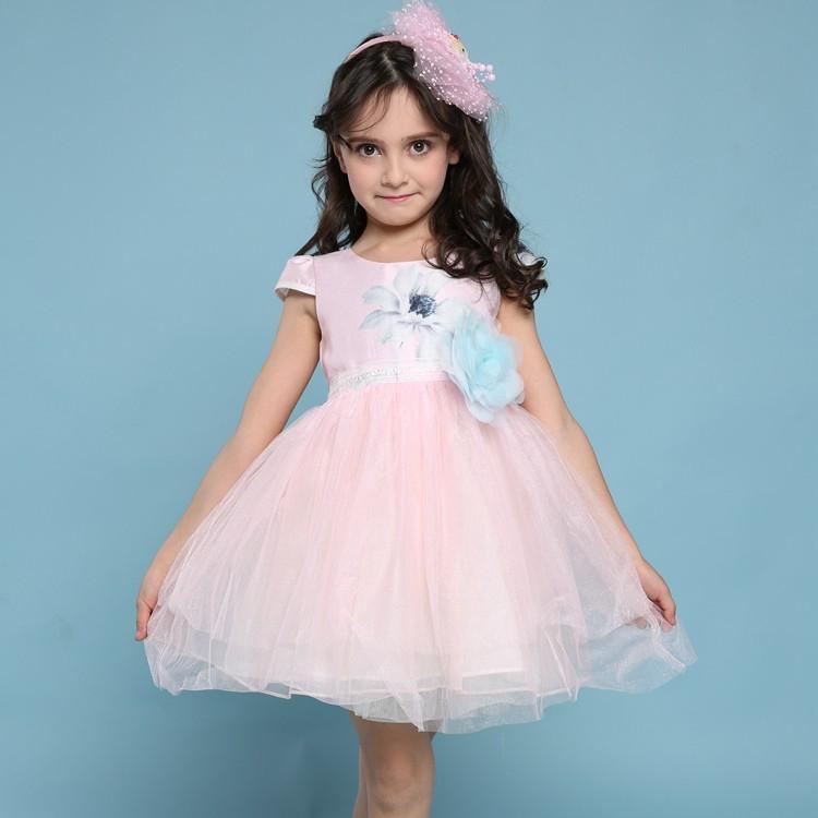 Filles robe de noms avec photos 2017 ventes chaudes enfants porter