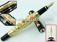 Dragon metal Fountain pen with gold nib