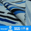 blue and white stripe fabric printing 4 way stretch fabric