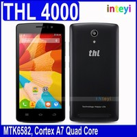 Original THL 4000 MTK6582 Quad core Smart Mobile Phone Android4.4 OS 4.7'' IPS Screen 1GB RAM + 8GB ROM 4000mAh WCDMA GPS 5.0MP