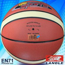 outside playing Europen market leather or rubber branded basketball
