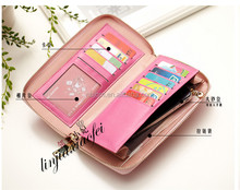 Hot sale top quality best price simple style pu wallet with wrist strap