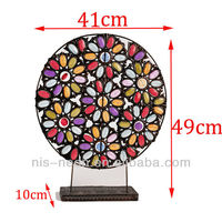 2015 New design Indian table moroccan mental decoration handicraft works(NS-200034)