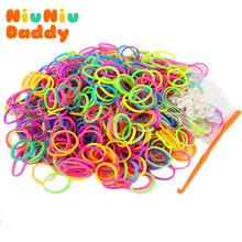 Niuniudaddy 600pcs Set Candy Colorful Loom Bands creative Rubber band bracelets DIY Bracelet Toys Free shipping
