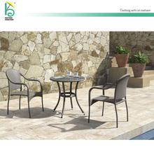 Balcony furniture wicker rattan outdoor coffee table