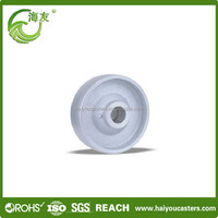 China wholesale market agents rubber caster mold on cast iron wheel