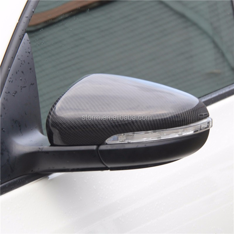 Replacement Carbon Fiber Mirror Cover For Volkswagen Vw