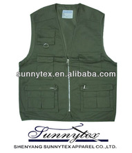 Sunnytex soft shell zipper front usful multipocket colorful vest photographer
