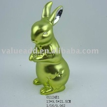 2012 ceramic easter electroplating rabbit figurine