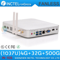2015 sale direct selling computadores fanless alluminum chassis four native usb 3.0 c1037u 1.8ghz 4G RAM 32G SSD 500G HDD