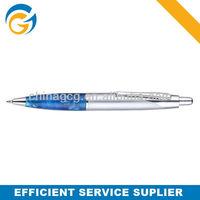 Sliver Barrel Classic Stone Grip, Metal Click Ball Pen