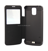 Flip Cover 3800mAh Battery Charger Case for Samsung Galaxy S5