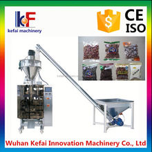 peanuts and melon seed triangle three side packaging sealing and filling machine