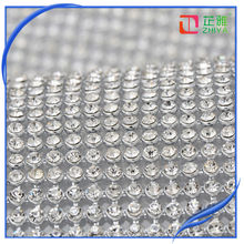 Decorative crystal hot fix rhinestone mesh,fabric with rhinestones,crystal rhinestone fabric