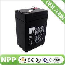 6V4.5AH Rechargeable storage 6 volt vrla battery for alarm systems