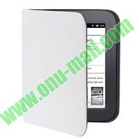 Pure Color flip leather case cover for nook simple touch with factory price and good quality
