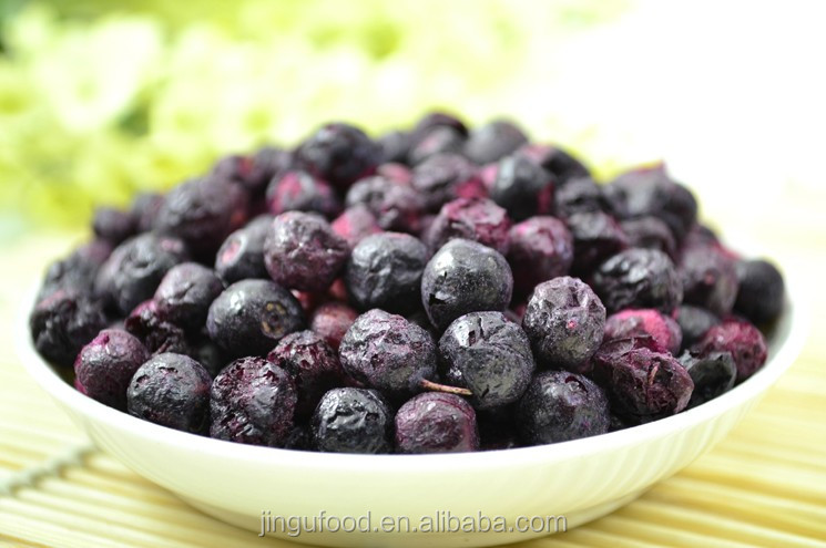 Freeze dried blueberries Blueberry Blue berries The edible fruit of Blueberry