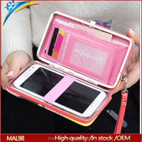 New hot selling metal clutch frame wallet with lock for girls Students Painting phone clip purse
