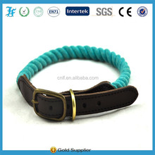 leather and rope adjustable collars for dogs
