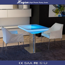 LED restaurant table/ktv table with light/illuminated furniture