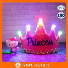 FIve LED princess/king crown for party, cheap king/princess crown