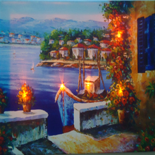 Most popular decorative canvas picture with led light frame
