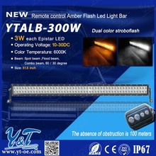 Y&T Yellow and White Dual Color 300w Led Light Bar Strobe Flash, for ATV LED Lights