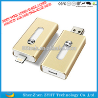 8GB/16GB/32GB/64GB 8 pin port otg usb flash drive for iphone 6s from 8 years professional factory in stock