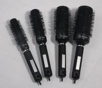 Plastic easy clean hair brush Ceramic round hair brush for girl
