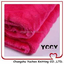 warm cheap supersoft plush fleece fabric 2015