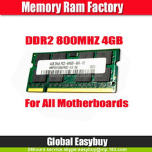 Low density 1 piece full compatible ddr2 ram pc2-6400 4gb