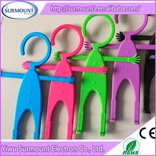 retailing packing Funny Human Shaped Silicone Flexible Cell Phone Holder