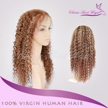 pretty top quality vigin hair lace front wig, the cap can be adjustable