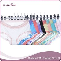 Wholesale ice silk multicolor lace sexy woman underpants