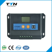 TTN Brand New High-end PWM 20A Manual Pwm Solar Charge Controller CY20C 2015