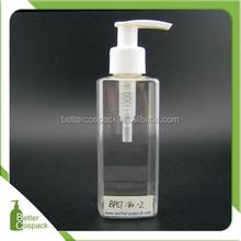 180ml plastic square bottle after shave lotion bottle
