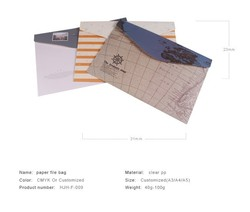 Kraft papped bubble mailer bag envelope file folder bag with different sizes for document