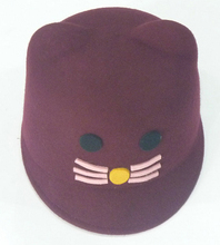 DIY animal felt hat,newsboy hat for children