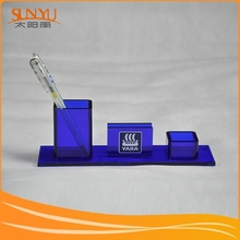 Retail Acrylic Office Supplies Container Box, Pen Container