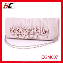 2015 hot selling fashion flower hand bag evening bag for girls factory direct sales