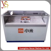 2015 mobile phone / cigarette glass showcase , display rack,display cabinet