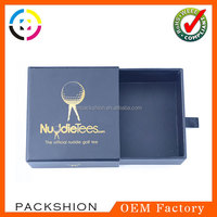 Eco-friendly paper material drawer gift boxes with handle to pull out