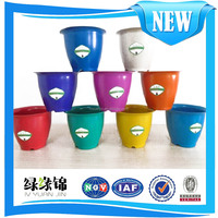 Eco-friendly recyclable plant fiber flower pot cover in various colours