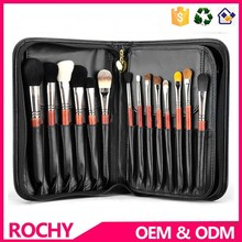Goat Hair Private Label 29 pcs Make up Brush Set Brown Colour